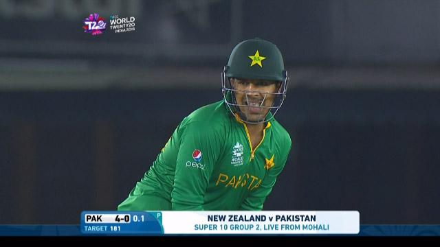 Sharjeel Khan Innings for New Zealand V Pakistan Video ICC WT20 2016