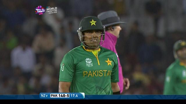 Umar Akmal Wicket Fall NZ V PAK Video ICC WT20 2016