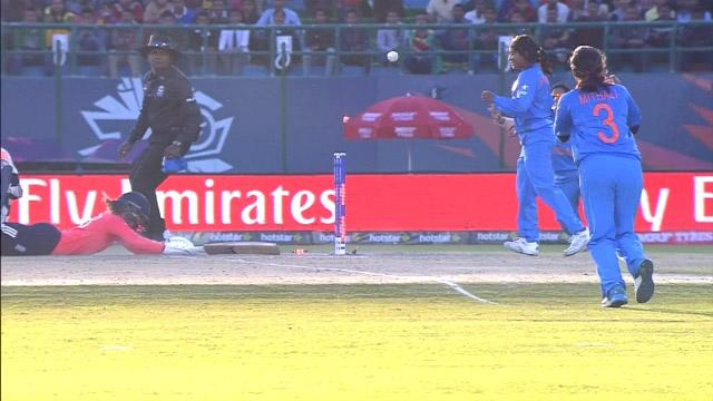 Stunning run-out gives India Women hope