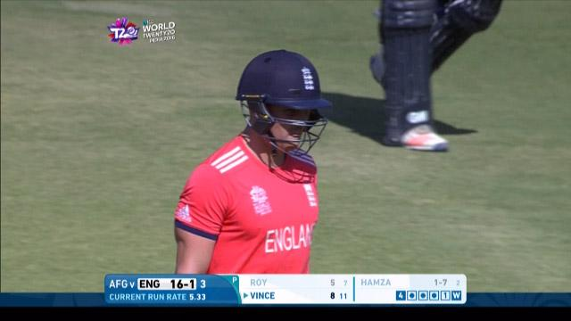 Jason Roy Wicket Fall ENG V AFG Video ICC WT20 2016