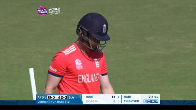 Eoin Morgan Wicket Fall ENG V AFG Video ICC WT20 2016