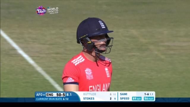 Jos Buttler Wicket Fall ENG V AFG Video ICC WT20 2016