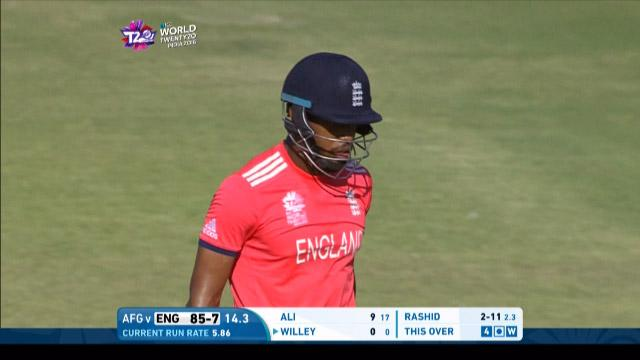 Chris Jordan Wicket Fall ENG V AFG Video ICC WT20 2016