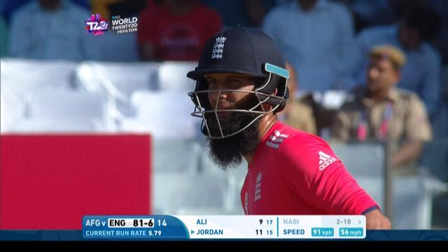 Moeen Ali Innings for England V Afghanistan Video ICC WT20 2016