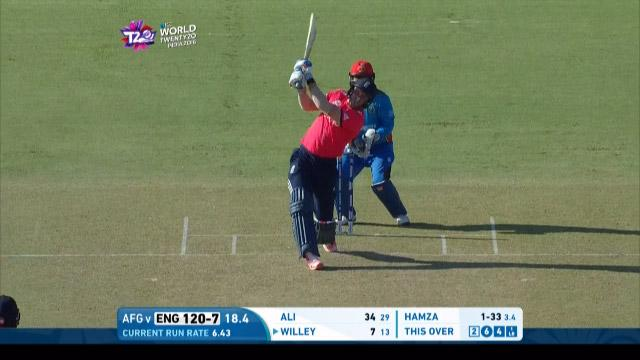 England take 25 off 2nd last over