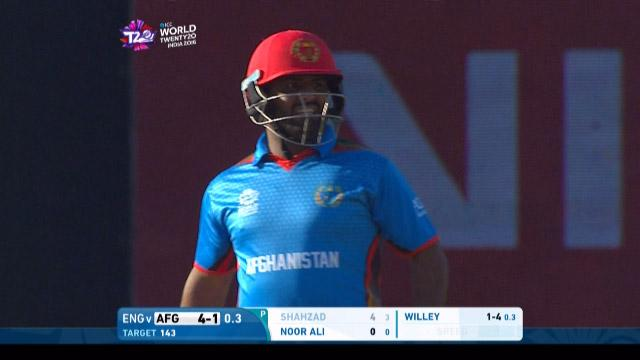Mohammad Shahzad Wicket Fall ENG V AFG Video ICC WT20 2016