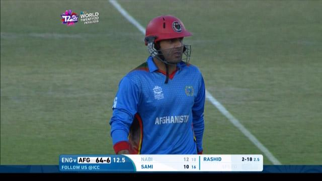 Mohammad Nabi Wicket Fall ENG V AFG Video ICC WT20 2016