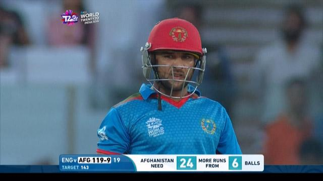 Shafiqullah Shafiq Innings for England V Afghanistan Video ICC WT20 2016