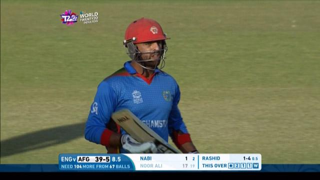 Afghanistan wicket Losses v England Video ICC WT20 2016