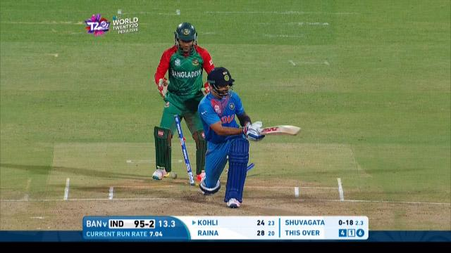 India wicket Losses v Bangladesh Video ICC WT20 2016