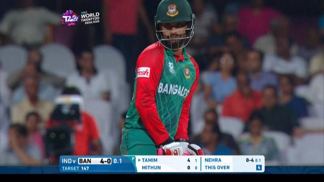 Tamim Iqbal Innings for India V Bangladesh Video ICC WT20 2016