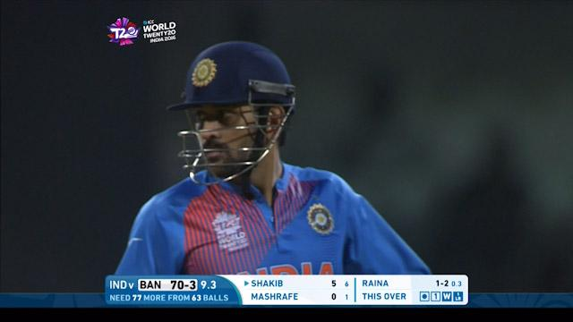 Dhoni's quick thinking catch Sabbir short