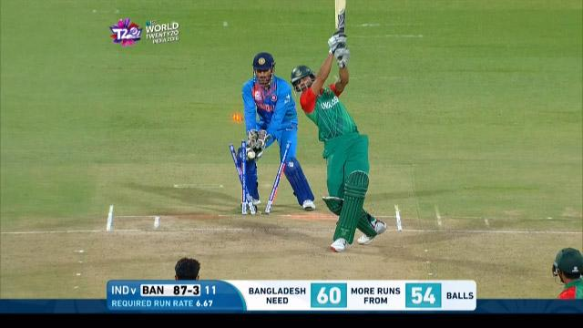 Bangladesh wicket Losses v India Video ICC WT20 2016