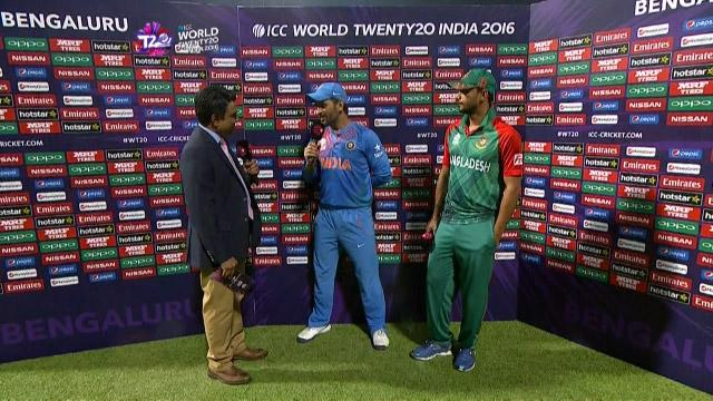Match Presentation for IND V BAN Match 25 ICC WT20 2016