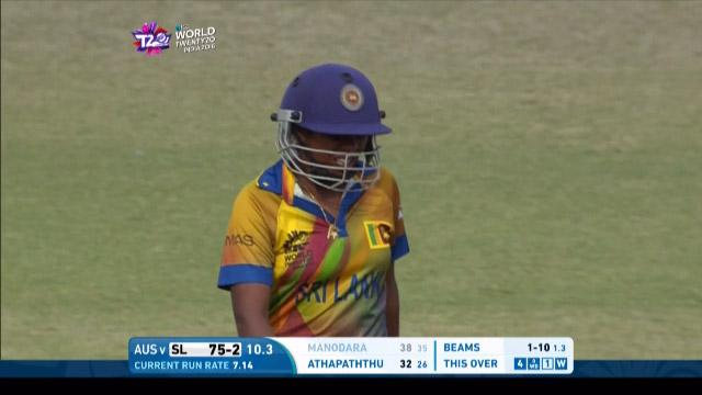 Dilani Manodara Wicket Fall SL V AUS Video ICC Womens WT20 2016