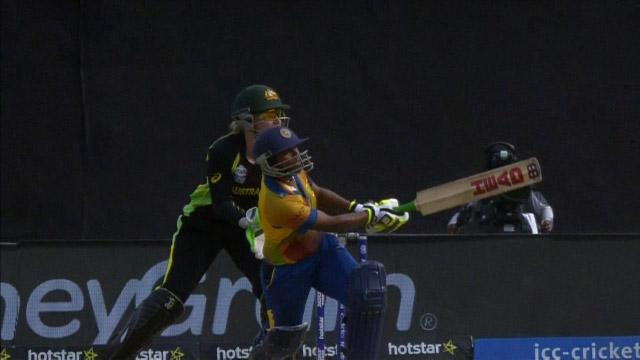 Dilani Manodara Innings for Sri Lanka V Australia Video ICC Womens WT20 2016