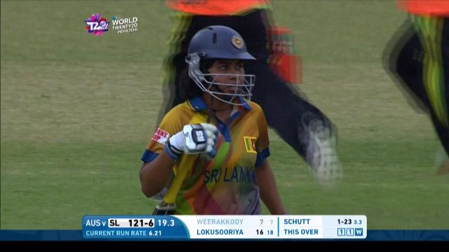 Prasadani Weerakkody Wicket Fall SL V AUS Video ICC Womens WT20 2016