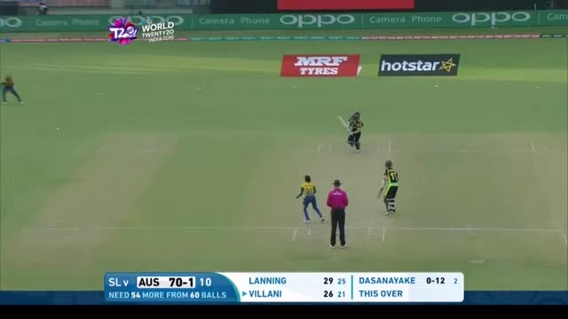 Elyse Villani Innings for Sri Lanka V Australia Video ICC Womens WT20 2016