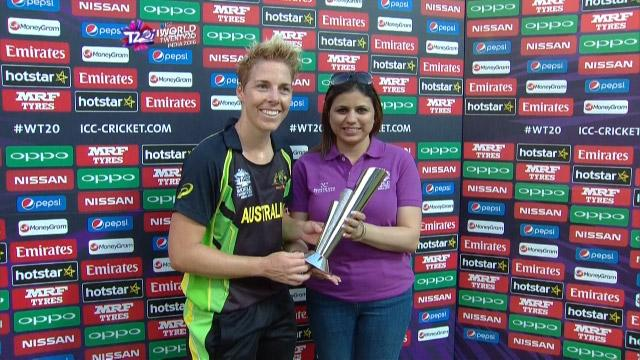 Player of the Match – Elyse Villani – AUS v SL