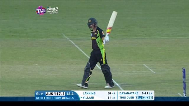 Meg Lanning Match Hero for Australia v SL ICC Womens WT20 2016