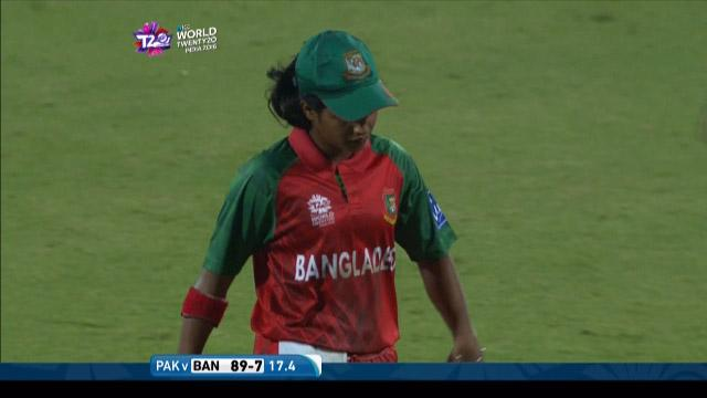 Fargana Hoque Wicket Fall BAN V PAK Video ICC Womens WT20 2016