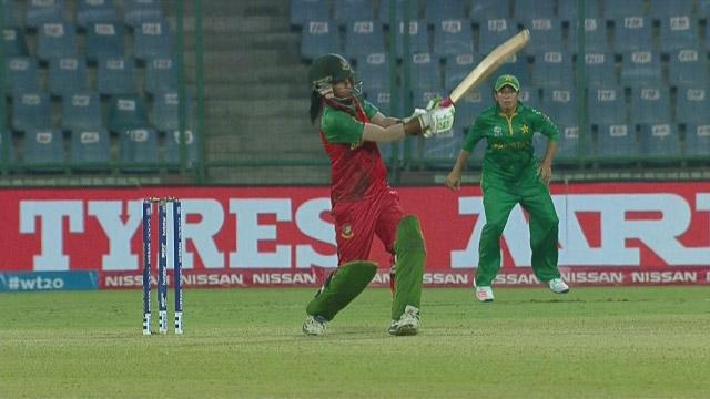 Bangladesh Innings Super Shots v PAK ICC Womens WT20 2016
