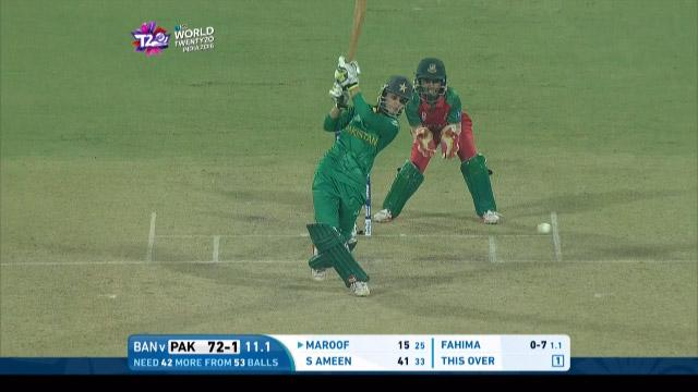 Bismah Maroof Innings for Pakistan V Bangladesh Video ICC Womens WT20 2016