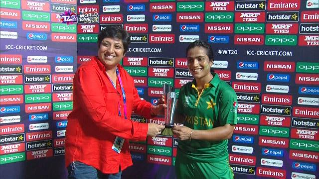 Player of the Match – Sidra Ameen – PAK v BAN