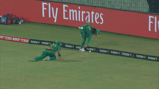 Outstanding team-work saves a boundary for Pakistan in the deep
