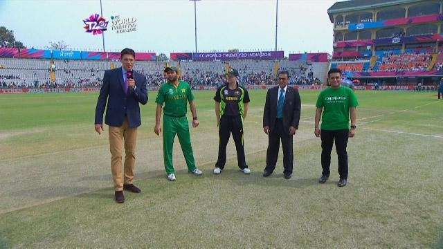 Australia wins Toss against Pakistan Match 26 ICC WT20 2016