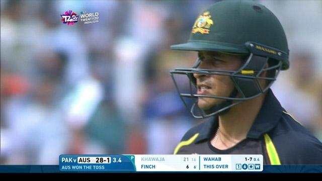 Australia wicket Losses v Pakistan Video ICC WT20 2016