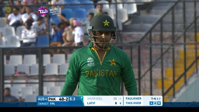 Sharjeel Khan Wicket Fall PAK V AUS Video ICC WT20 2016