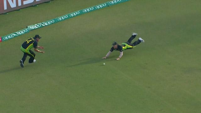 Synchronised fielding from Australia!