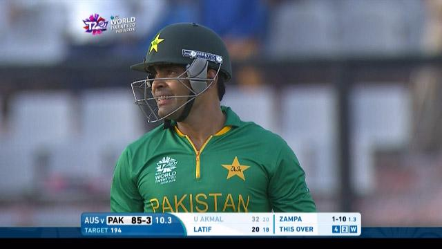 Umar Akmal Wicket Fall PAK V AUS Video ICC WT20 2016