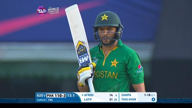 Afridi smashes massive straight 6 off Zampa