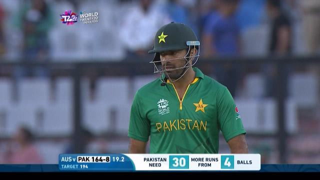 Wahab Riaz Wicket Fall PAK V AUS Video ICC WT20 2016