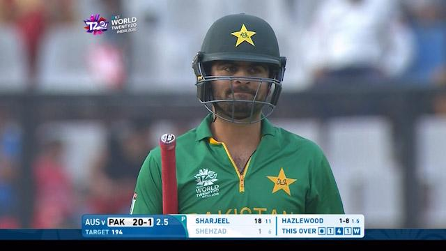 Pakistan wicket Losses v Australia Video ICC WT20 2016