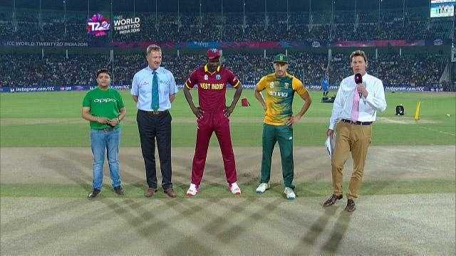 West Indies wins Toss against South Africa Match 27 ICC WT20 2016