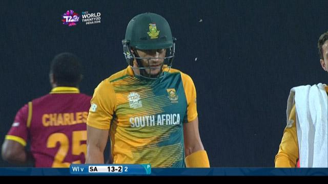 Faf du Plessis Wicket Fall SA V WI Video ICC WT20 2016
