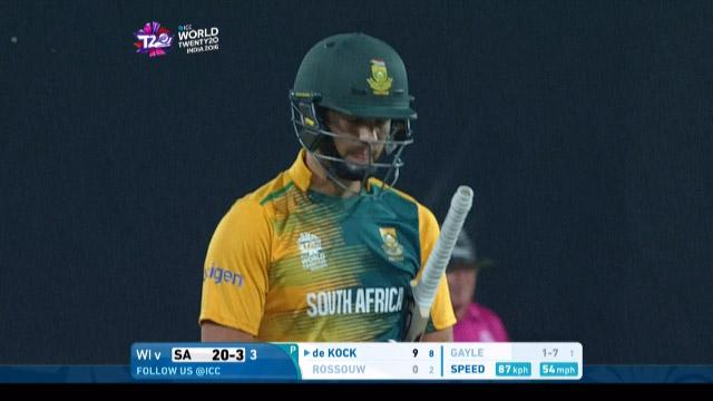 Rilee Rossouw Wicket Fall SA V WI Video ICC WT20 2016
