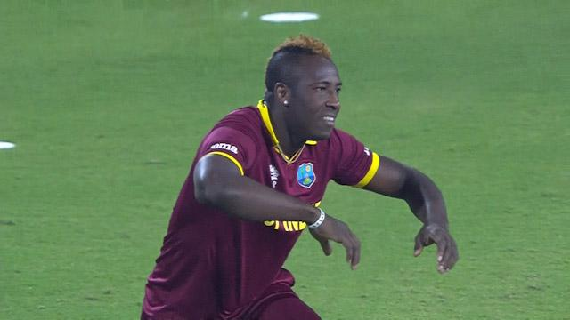 Andre Russell's athleticism pulls off fantastic run-out