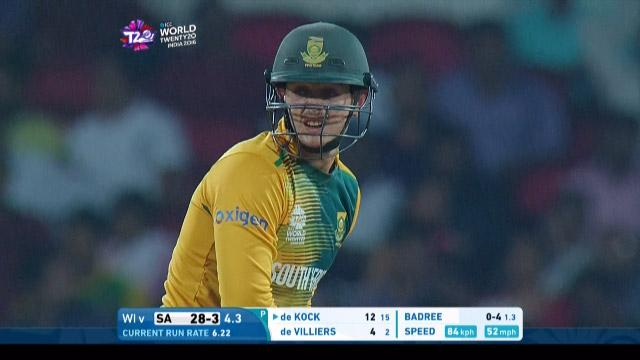 Quinton de Kock Innings for South Africa V West Indies Video ICC WT20 2016