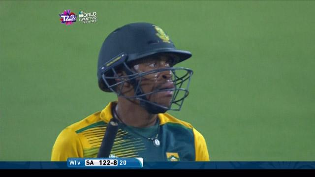 Aaron Phangiso Wicket Fall SA V WI Video ICC WT20 2016