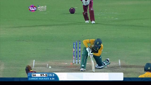 South Africa wicket Losses v West Indies Video ICC WT20 2016