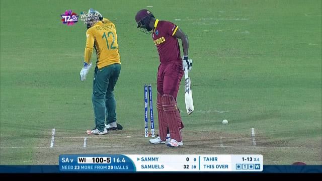 West Indies wicket Losses v South Africa Video ICC WT20 2016