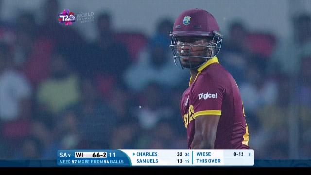 Johnson Charles Match Hero for West Indies v SA ICC WT20 2016