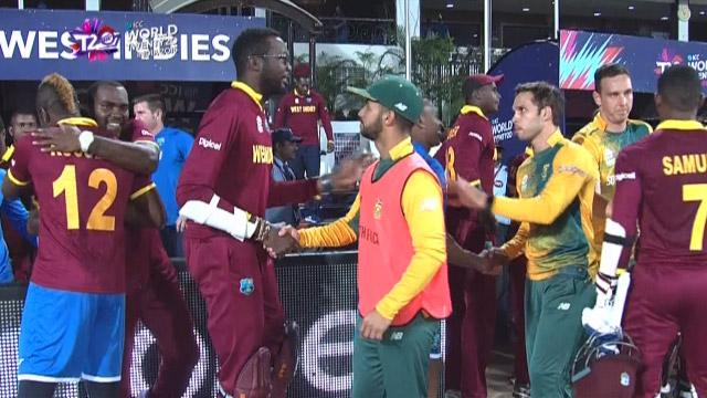 West Indies enters semi-finals after nervy win