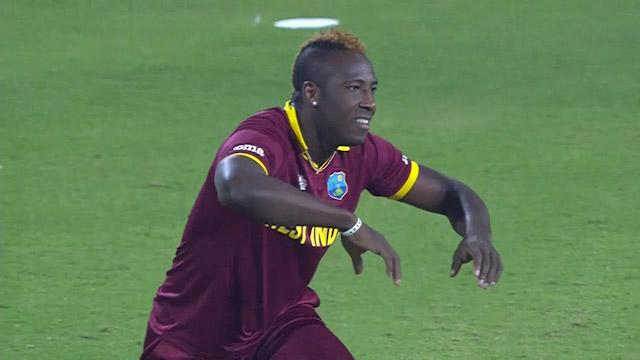 Andre Russell's Magnificient fielding dismisses Amla