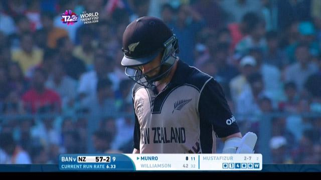 Kane Williamson Wicket Fall NZ V BAN Video ICC WT20 2016