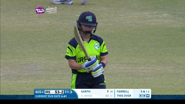 Cecelia Joyce Wicket Fall IRE V AUS Video ICC Womens WT20 2016